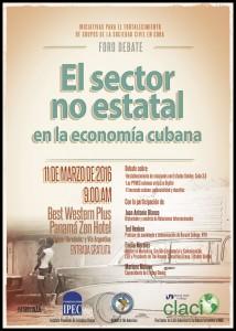 """Foro Debate """"El Sector No Estatal en la Economía Cubana"""""""