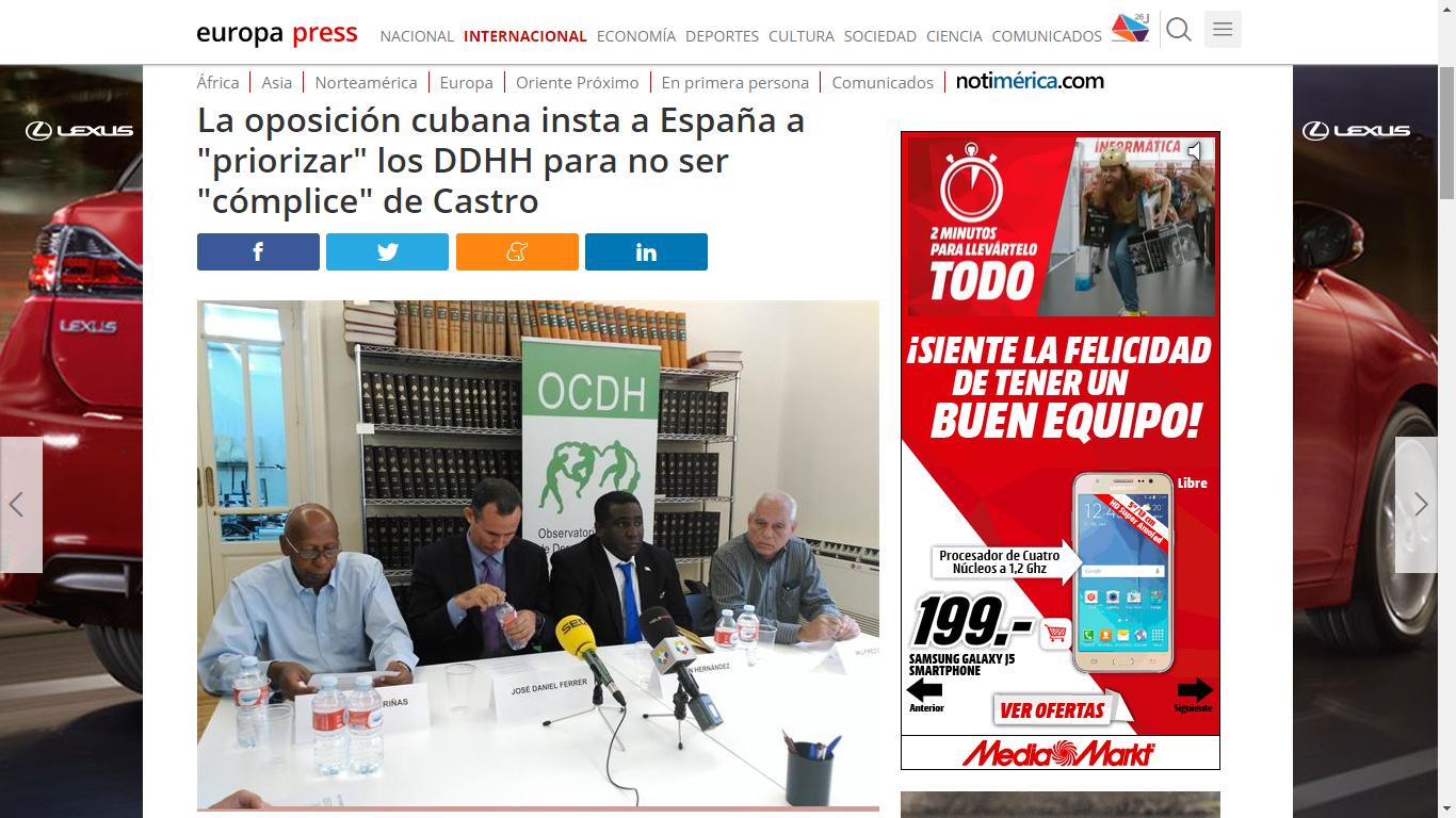 Evento Ginebra / Rueda de Prensa Madrid