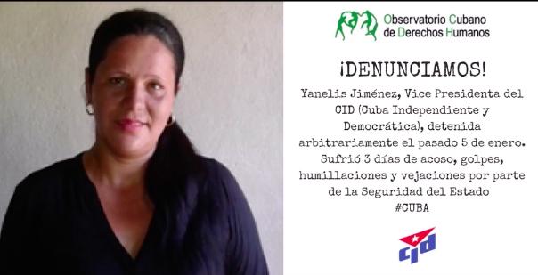 Vice Presidenta del CID detenida, golpeada, amenazada y humillada