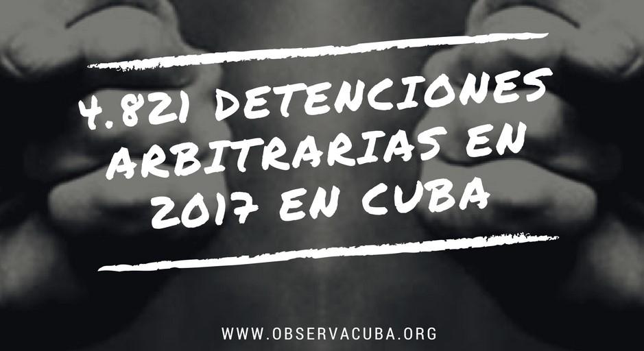 2017 se saldó con 4.821 detenciones arbitrarias