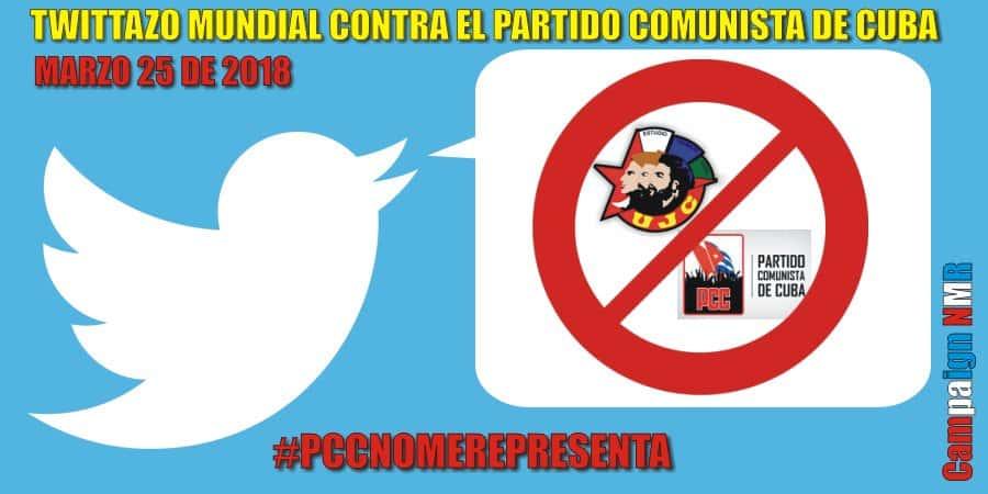 Campaña Twitazo Mundial contra el Partido Comunista de Cuba