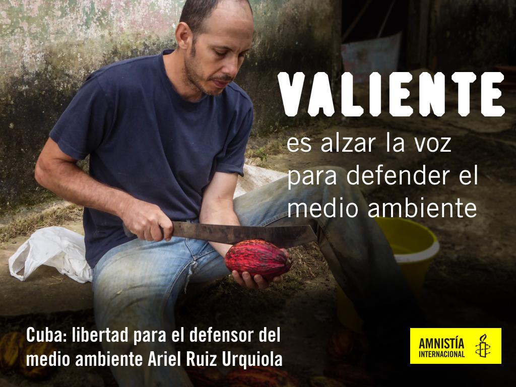 Ariel Ruiz Urquiola declarado PRESO DE CONCIENCIA por Amnistía Internacional