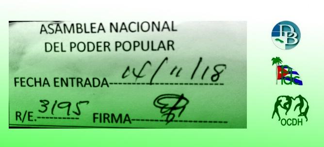 Reforma constitucional: Asociación Damas de Blanco, Partido Demócrata Cristiano de Cuba y Observatorio Cubano de Derechos Humanos registran una propuesta conjunta ante la Asamblea Nacional