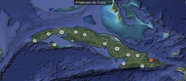 Mapa de las Prisiones de Cuba visibiliza el panorama represivo de uno de los peores sistemas carcelarios del mundo