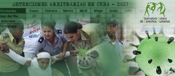 OCDH: 713 acciones represivas en Cuba en junio, de las cuales 114 fueron detenciones arbitrarias